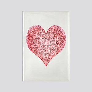 Red Hot Heart Rectangle Magnet