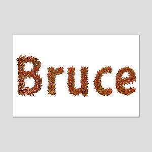 Bruce Fall Leaves Mini Poster Print