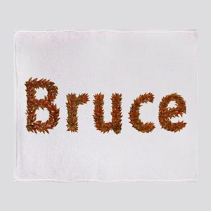 Bruce Fall Leaves Throw Blanket