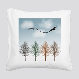 Imagine Kite Square Canvas Pillow