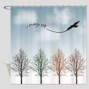Imagine Kite Shower Curtain