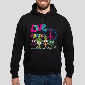 Love Peace Veggies Hoodie (dark)