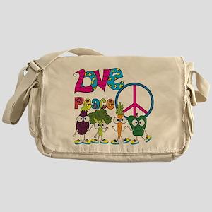 Love Peace Veggies Messenger Bag