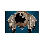 Native Art Rectangle Magnet Wildlife Artwork