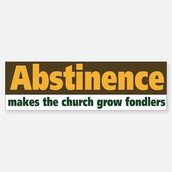 Abstinence Sticker (Bumper)