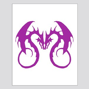 Purple Love Dragons Small Poster