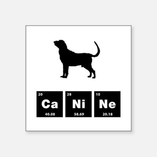 """Bloodhound Square Sticker 3"""" x 3"""""""