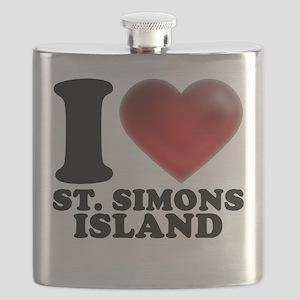 I Heart St. Simons Island Flask