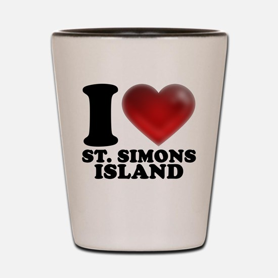 I Heart St. Simons Island Shot Glass
