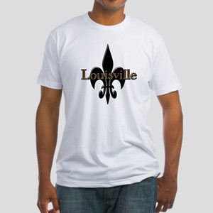 Louisville Fleur de Lis Fitted T-Shirt