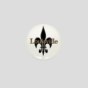 Louisville Fleur de Lis Mini Button