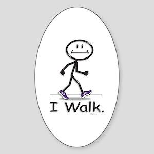 BusyBodies Walking Oval Sticker