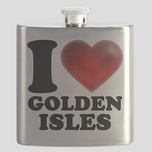 I Heart Golden Isles Flask