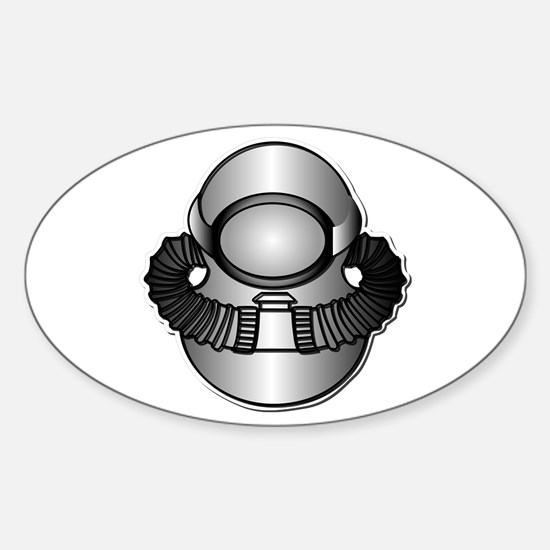 Army Diver - SCUBA wo TXT Sticker (Oval)