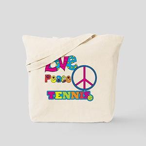 Love Peace Tennis Tote Bag