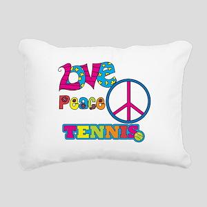 Love Peace Tennis Rectangular Canvas Pillow