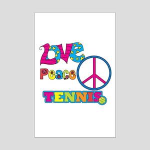 Love Peace Tennis Mini Poster Print