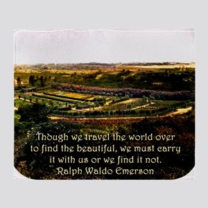 Though We Travel The World Over - Emerson Throw Bl