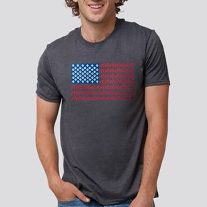 German Shepherd USA American FLAG - T-Shirt
