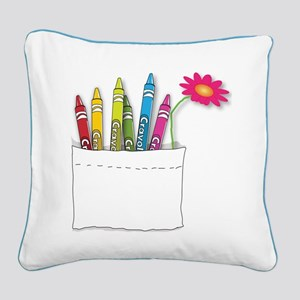 Happiness is...a Pocketful of Colors Square Canvas