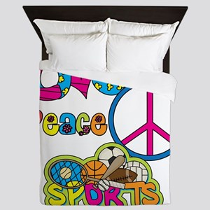 Love Peace Sports Queen Duvet
