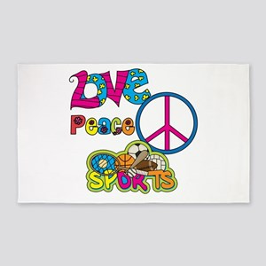 Love Peace Sports 3'x5' Area Rug