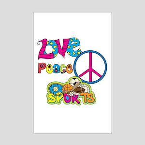 Love Peace Sports Mini Poster Print