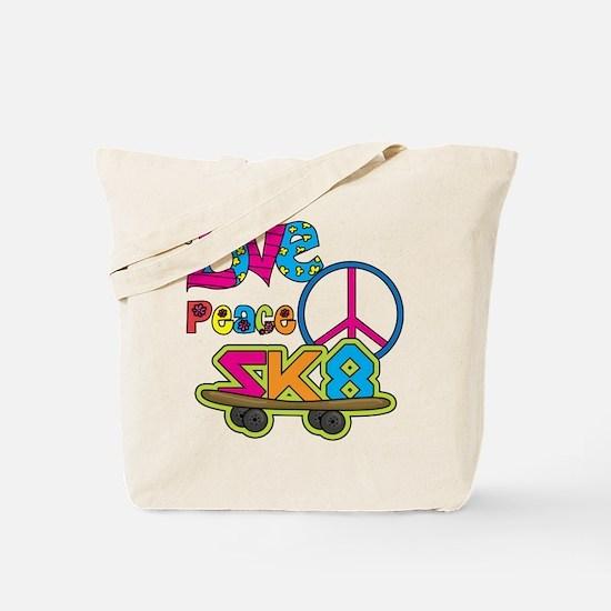 Love Peace Skate Tote Bag