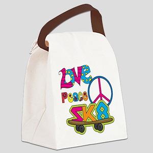 Love Peace Skate Canvas Lunch Bag