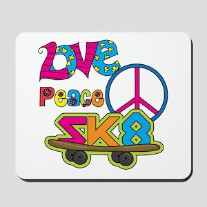 Love Peace Skate Mousepad