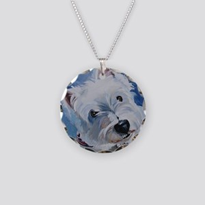 Westie - Tavin Necklace Circle Charm