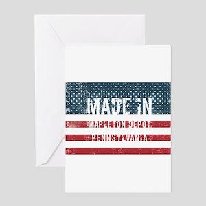Made in Mapleton Depot, Pennsylvani Greeting Cards