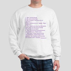 Answers (purple) Sweatshirt