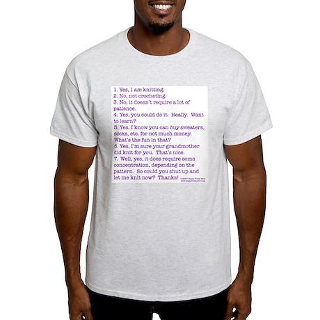 Answers (purple) Ash Grey T-Shirt