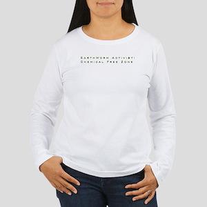 Women's Long Sleeve T-Shirt  (Logo on back)