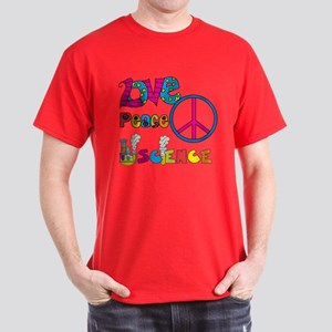 Love Peace Science Dark T-Shirt