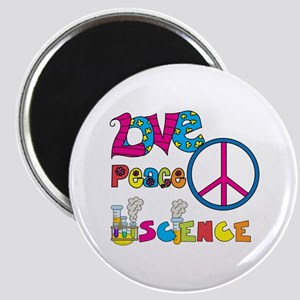 Love Peace Science Magnet