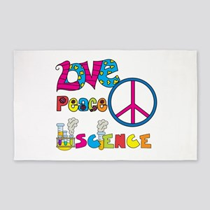 Love Peace Science 3'x5' Area Rug