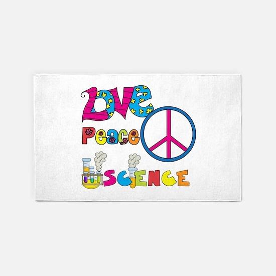 Love Peace Science 3'x5' Area Rug