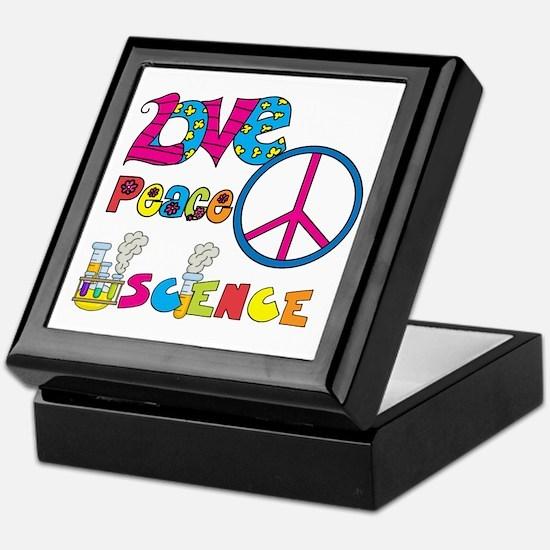 Love Peace Science Keepsake Box