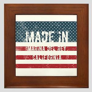 Made in Marina Del Rey, California Framed Tile