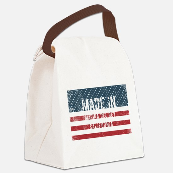 Made in Marina Del Rey, Californi Canvas Lunch Bag