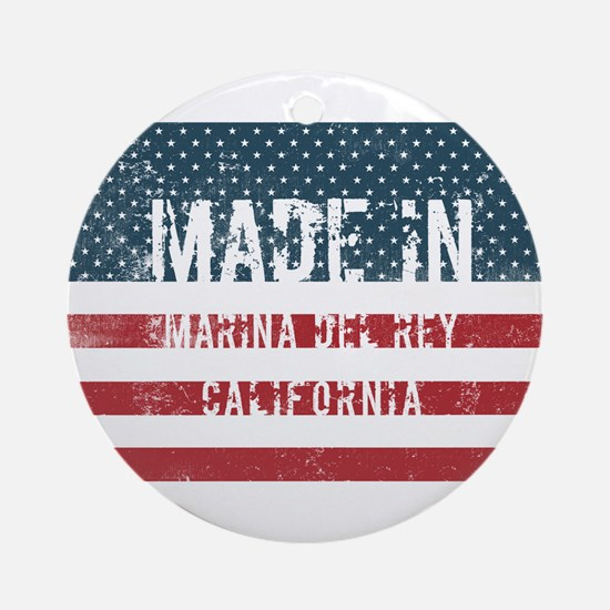 Made in Marina Del Rey, California Round Ornament