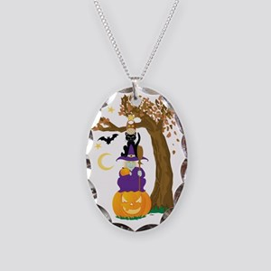 Halloween Totem Necklace Oval Charm