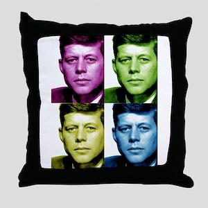 JFK John F. Kennedy Throw Pillow