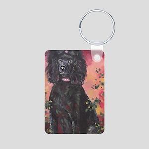 Standard Poodle - Gracie Aluminum Photo Keychain