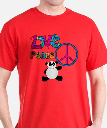 Love Peace Pandas T-Shirt
