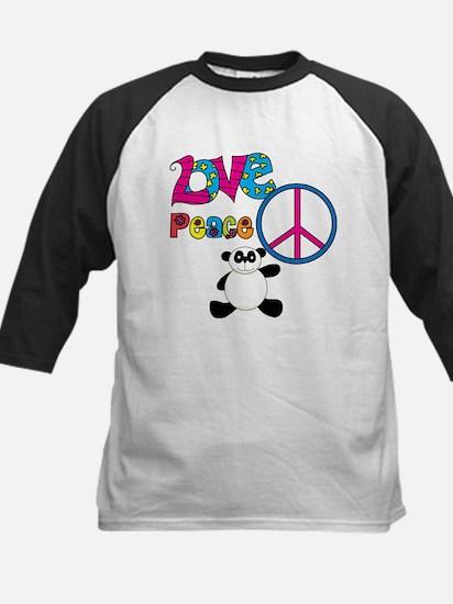 Love Peace Pandas Kids Baseball Jersey