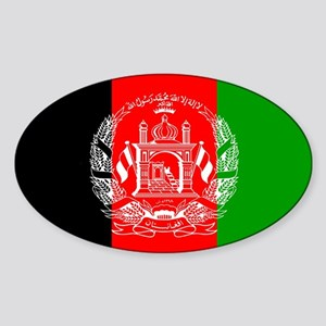 Afghanistan Flag Oval Sticker