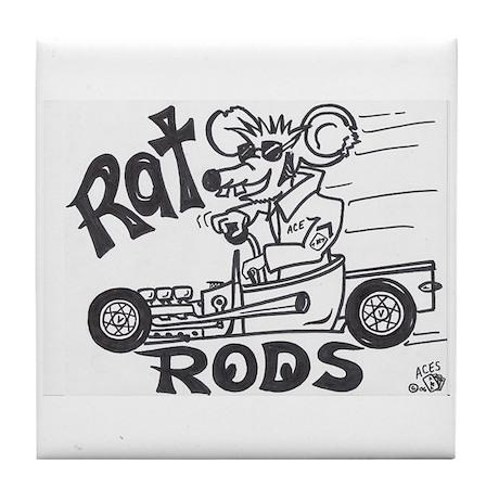 Rat Rod hotrod Tile Coaster